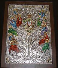 Weinstock Ikone Jesus Christus Silber Oklad 12 Apostel icon Ambelos Ikona Icone