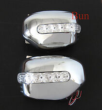 MITSUBISHI L200 ANIMAL WARRIOR TRITON CHROME DOOR MIRROR COVER WITH LED TRIM 06