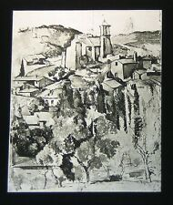 PHOTO ON GLASS VIEW OF GARDANNE BY CEZANNE