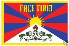 Poster FREE TIBET - Flagge ca90x60cm  NEU  56605