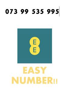 EE Network Trio Sim Card Easy Number Platinum Gold Vip Memorable 073 99 535 995