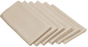"Set Napkins Polyester 20X20"" (24 Units) Variety Colors By Broward Linens"