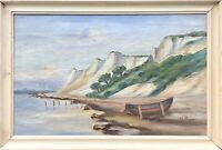 Unknown Impressionist - Cliff - Rowing Boat - Sea - Seagulls - Baltic Sea