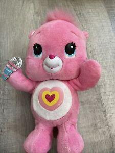 "Care Bear Wonderheart 11"" Animatronic Plush Sing Dance Talk Pink 2012 w/Mic"