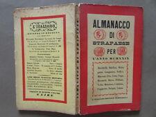 Almanacco Strapaese Maccari Pea Morandi Ungaretti Soffici Italiano Bologna 1929