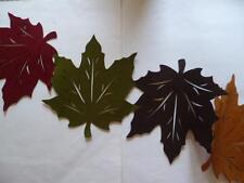 Fall Thanksgiving Felt Cutout Leaves Table Runner Red Orange Brown Green 15x54