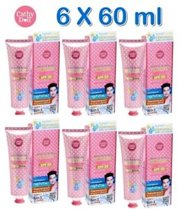 6 X Cathy Doll Whitening Sunscreen Magic Cream SPF50 PA+++