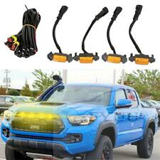 4PCS Grille Amber Led Lights Fit For Toyota Tacoma TRD Grill 2016-2019