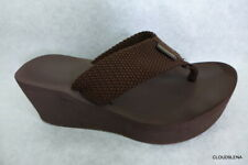 ROCKET DOG  Diver Brown Wedge Flip Flop Thong Sandals Shoes 9/9.5