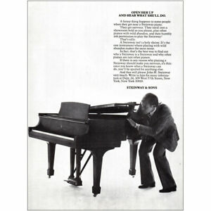 1980 Steinway: Open Her Up and Hear What Shell Do Vintage Print Ad