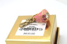 NWT Juicy Couture PINK LTD ED 2014 CLASS RING CHARM GOLD Box Crystal Stone Rare