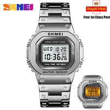 Reloj de pulsera Reloj Digital de Hombre SKMEI LED Impermeable Deportivo de moda de hombre de luz de fondo