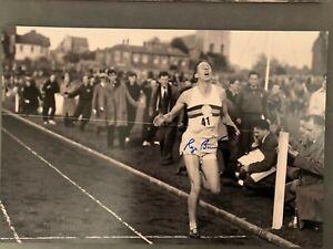 Roger Bannister Signed Photo UK Athletics Olympics