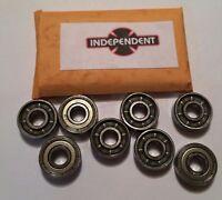 Genuine Independent Skateboard GP-S Bearings - Set of 8 Skate Rated Bearings