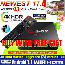 4K PRO KODI 17.4 Quad Core Android 6.0 Smart TV Box WIFI Media Sports Movies US