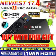 4K PRO KODI 17.4 Quad Core Android 7.1 Smart TV Box WIFI Media Sports Movies UK