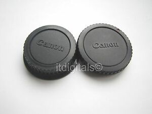 Body & Rear Lens Cap For Canon Rebel XTi XSi EOS 20D 5D Dust Safety Back Cover