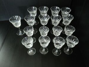 Gorham Cherrywood Clear Crystal Lot of 8 Wine Glasses