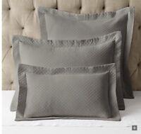 Set of 2 RH Restoration Hardware Vintage Washed Matelasse King Pillow Shams NWT