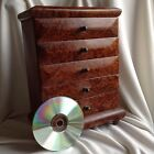 African thuya scent root wood New cosmetic jewelry sewing Box cabinet 5 Drawers
