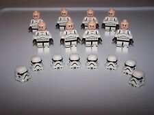 LEGO® STAR WARS minifigure stormtrooper storm trooper 75088 flesh helmet lot x8