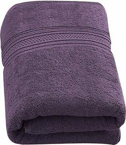 Purple ZHAOHEMAOYI Premium Jumbo Bath Sheet Spun Cotton Highly Absorb Pure Cotton Thicken Stripe Face Towels Lavender Pattern Absorbent Face Towels Color : Purple Delicate And Beautiful Towel Set