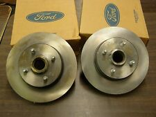 NOS OEM Ford 1993 Mustang Cobra Front Brake Rotors Pair SVT Fox Body