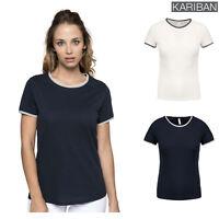 Kariban Women's Pique Knit Crew Neck Cotton T-Shirt (K393) - Short Sleeve Top
