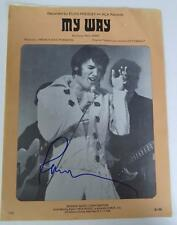 "Paul Anka ELVIS PRESLEY Signed Autograph ""My Way"" Sheet Music   Frank Sinatra"