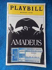 Amadeus - Broadhurst Theatre Playbill w/Ticket - February 19th, 1981 - Dukes