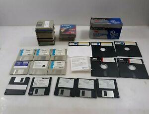 "Computer lot Floppy disks 3.5"" & 5"" Zip disks external drive microsoft hp softwa"