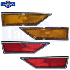 70-72 Cutlass 442 Supreme Front & Rear Side Marker Lamp Assembly Kit New