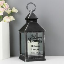 Personalised In Loving Memory LED Light Lantern Home Candle Holder Decoration