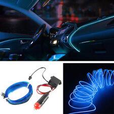 5M 12V EL Wire Blue Cold light lamp Neon Lamp Car Atmosphere Lights Unique Decor