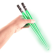 Chop Sabers Light Up Lightsaber Chopsticks, Green Pair