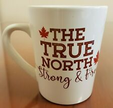 Canada True North Strong and Free Red and White Coffee Mug by Royal Norfolk