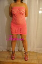 Robe Stretch sexy lingerie GOGO see through Trous Rose + bonus