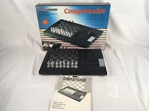SAITEK KASPAROV CONQUISTADOR ELECTRONIC COMPUTER CHESS GAME 1988