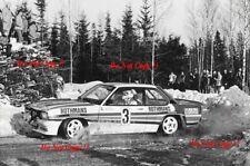 Walter Rohrl Opel Ascona 400 Swedish Rally 1982 Photograph 1