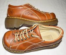 Dr. Doc Martens Chestnut Brown Leather Lace-up Chunky Oxfords Shoes Womens 8