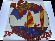 ORIGINAL VINTAGE UNUSED 1970's T SHIRT HEAT TRANSFER IRON ON WIND SURFING RETRO