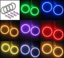 4X 80MM Multi-color 5050 LED Flashing Angel Eyes Halo Ring Bulbs kit New