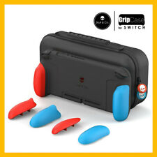 Skull & Co. GripCase Set Nintendo Switch (+ MaxCarry Case & Grips) Neon Red Blue