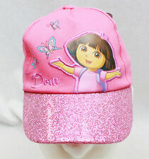 Girls DORA THE EXPLORER Glitter Brim Embroidered BASEBALL HAT CAP Visor NEW!!