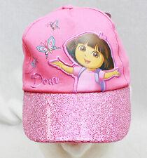 Girls DORA THE EXPLORER Glitter Brim Embroidered BASEBALL HAT CAP Visor NEW!!