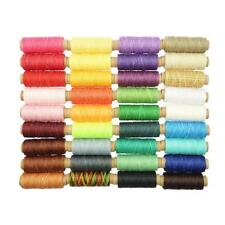 Baoblaze 36 Rolls DIY Sewing Leather Waxed Thread Lot For Leather Craft 150D