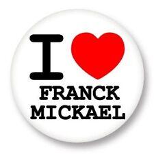 Magnet Aimant Frigo Ø38mm ♥ I Love You j'aime Franck Mickael