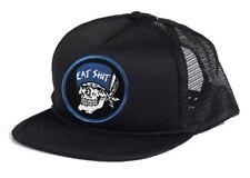 Dogtown X Suicidal Tendencies DTST EAT SH#T PATCH Skateboard Trucker Hat BLACK