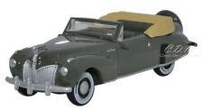 Oxford 1941 Lincoln Continental Pewter Grey Die-Cast Metal Car 1/87 HO Scale