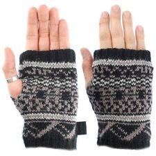 Gants et moufles mitaines noir en acrylique pour femme